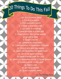 fall list 20 fall ideas and activities for including
