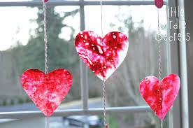 make crayon stained glass hearts with your kids how to little