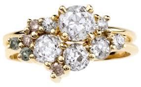 set ring custom ombré heirloom cluster ring set bario neal