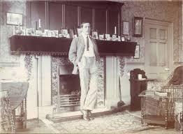 lewis carroll red lustre fireplace tiles william de morgan