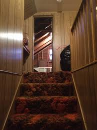 The Overwhelmed Home Renovator Bathroom by Severe Seventies Shag Seeks Serious Renovation Stairs U0026 Upstairs