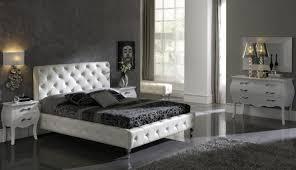Black Leather Bedroom Sets Spain Made Modern Bedroom Set In White Or Black Leather 2 499 00