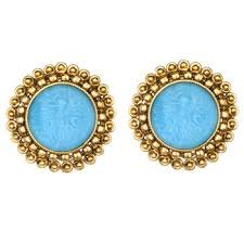 stud earrings online buy traditional indian jewelry set gold finish stud