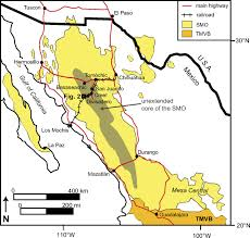 Map Of Durango Mexico by Synvolcanic Crustal Extension During The Mid Cenozoic Ignimbrite
