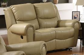 Cream Sofa And Loveseat Bonded Leather Transitional Reclining Sofa W Options