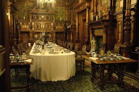 dining room wall paper dining room in peles castle in romania wallpaper and background