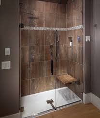 Teak Wood Shower Bench Interior Impressive Picture Of Bathroom Shower Decoration Using