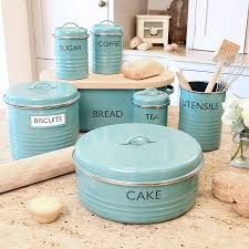 Canister For Kitchen by Vintage Lincoln Beautyware Blue Mid Century Canister Set Ebay