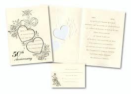 invitations for 50th wedding anniversary wording alesi info