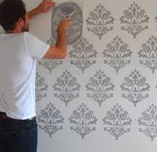 Damask Wall Decor Damask Decorating Stencil Wall Fabric Furniture Damask