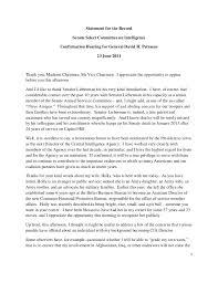 opening statement resume opening statement of general david h petraeus