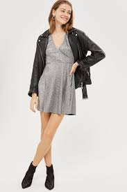 metallic wrap skater dress going out u0026 party collection