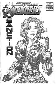 black widow coloring pages marvel characters printable coloring