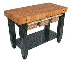 john boos gathering block butcher block island