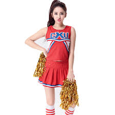 Girls Cheerleader Halloween Costume Cheerleader Halloween Cosplay Costume Uniform Cheer