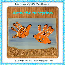 discover god u0027s creations clown fish handprint craft u2013 faith and
