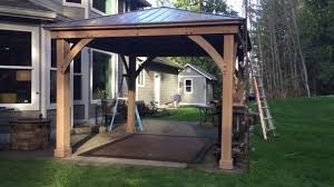 Costco Sunsetter Awning Aluminum Pergola Kits Costco Gazebos U0026 Sun Shelters