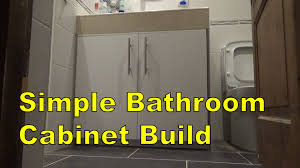 simple bathroom cabinet build youtube