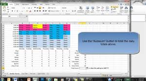 time management weekly planner template excel weekly planner youtube