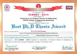 thesis certificate