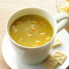 hearty vegetable split pea soup recipe taste of home