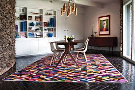 studio hide rug geoff wellen mr crowley modern dining room