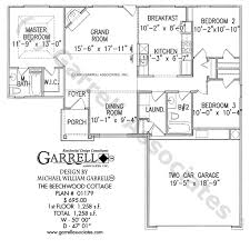 cottage house plans one story beechwood cottage house plan house plans by garrell associates inc