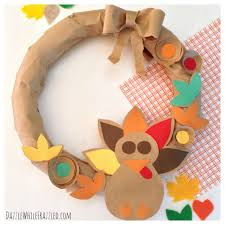 making a thanksgiving turkey make an easy thanksgiving wreath from a paper bag