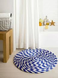 White Round Rug by Unique Blue And White Round Rug Design For Small Bathroom Ideas