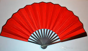 Wedding Program Hand Fans Large Plain Red Wedding Decoration Fan Diy Program Fine Art