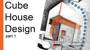 Cube House Plans Drawing Tutorial Cube House Design Arch Student Com