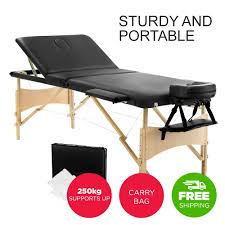 fold up massage table for sale buy now zenses wooden portable massage table 3 fold beauty therapy