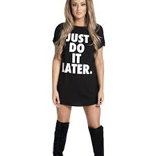 letter print plain t shirt dress wide black white tee shirt femme