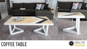 modern coffee table diy youtube