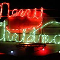 merry rope light sign decore