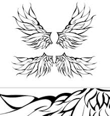 tribal wings tattoo design royalty free vector image