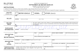 Texas Motor Vehicle Bill Of Sale Form by Preview Pdf Connecticut Motor Vehicle Bill Of Sale Form 1