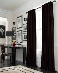 inspiring red and white bedroom curtains decor with black curtains