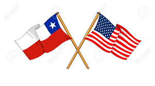 Chile Santiago Flag Cartoon Like Drawings Of Flags Showing Friendship Between Chile