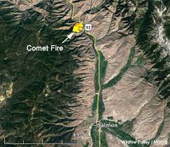 Idaho Fires Map Comet Fire Burns Hundreds Of Acres North Of Salmon Idaho