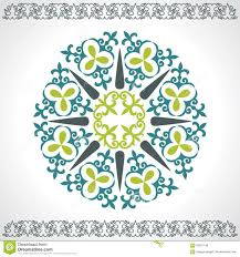 set kazakh asian ornaments and patterns illustration 65281146