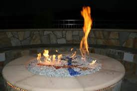 Little Red Fire Pit - aquatic glassel moderustic fire pit design fireplace glass and
