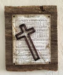wood crosses for crafts the rugged cross hymn with string cross on barn wood