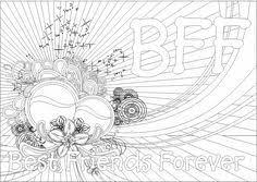 bff coloring pages download print free kleurplaten