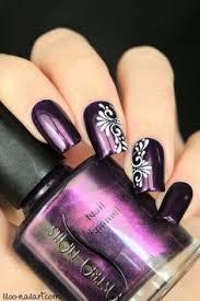30 chosen purple nail art designs dark purple nails purple