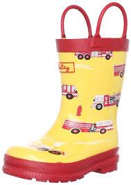 s boots amazon uk hatley trucks yellow wellingtons boot rb0fire001 13 uk junior