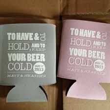 wedding koozie favors nuptial necessities cards stationery 3006 bee caves rd
