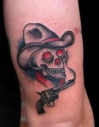 traditional cowboy skull design tattoos book 65 000