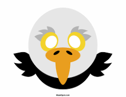 eagle mask templates including a coloring page version of the mask