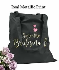 personalized bags for bridesmaids wedding bags bridesmaid tote bags wedding totes personalized